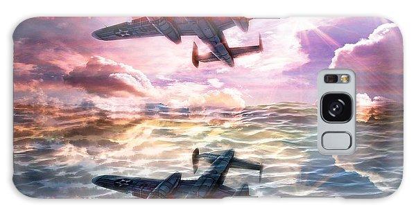 Galaxy Case featuring the digital art B-25b Usaaf by Aaron Berg