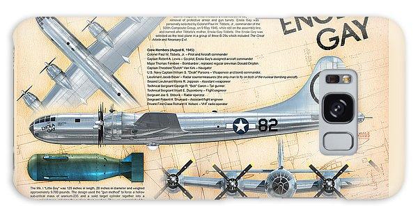 B-29 Enola Gay  Galaxy Case by David Collins