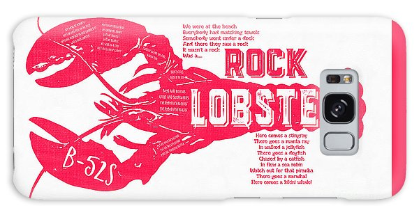 B-52s Rock Lobster Lyric Poster Galaxy Case