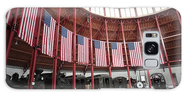 B And O Museum Roundhouse In Baltimore Maryland Galaxy Case