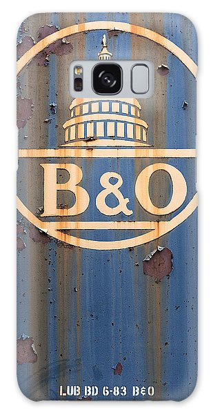 B And O Railroad Rail Car Signage Galaxy Case