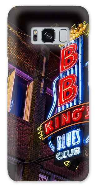 B B King Galaxy Case - B B Kings On Beale Street by Stephen Stookey