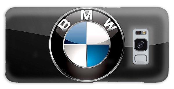 Automotive Galaxy Case - B M W  3 D Badge On Black by Serge Averbukh
