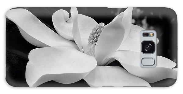 B W Magnolia Blossom Galaxy Case
