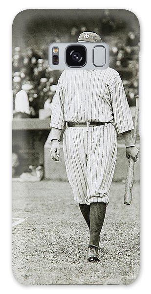 Babe Ruth Going To Bat Galaxy Case