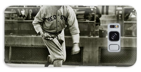 Babe Ruth Pitching Galaxy Case