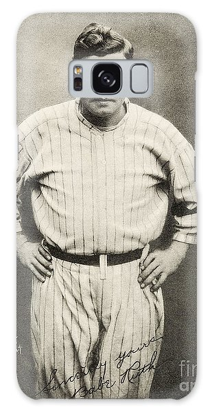 Babe Ruth Portrait Galaxy Case