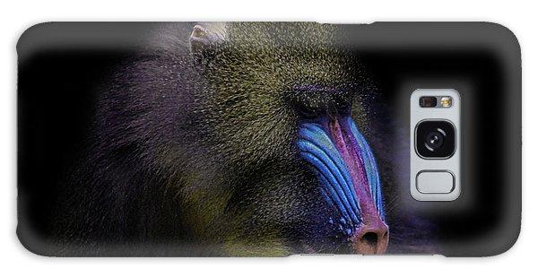 Gorilla Galaxy Case - Baboon Portrait by Martin Newman