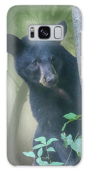Baby Bear Takes A Peek Galaxy Case