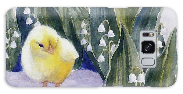 Baby Chick And Lily Of The Valley Flowers Galaxy Case