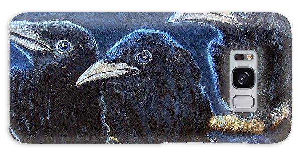 Baby Crows Galaxy Case