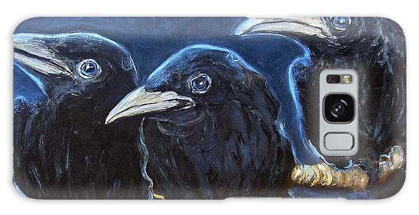 Baby Crows Galaxy Case