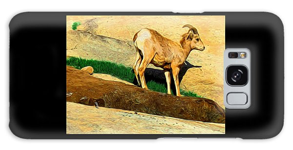 Baby Desert Bighorn In Abstract Galaxy Case