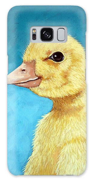 Baby Duck - Spring Duckling Galaxy Case by Linda Apple