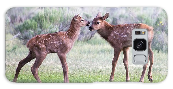 Galaxy Case featuring the photograph Baby Elk by Wesley Aston