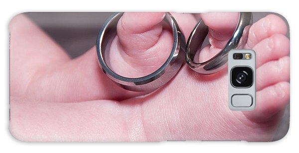 Baby Feet With Wedding Rings Galaxy Case