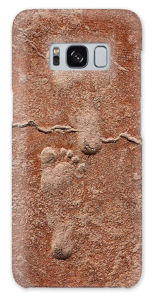 Baby Footsteps Etched In Stone Galaxy Case by Tracie Kaska