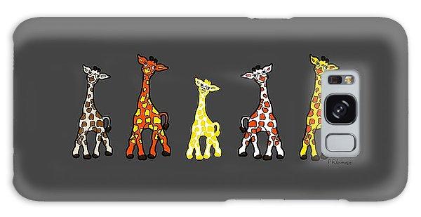Baby Giraffes In A Row Galaxy Case