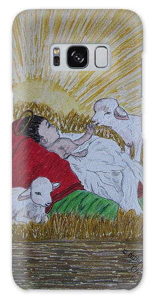 Baby Jesus At Birth Galaxy Case