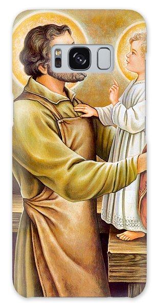 Baby Jesus Talking To Joseph Galaxy Case by Munir Alawi
