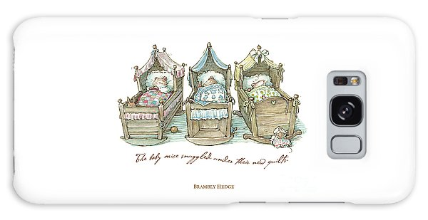 The Brambly Hedge Baby Mice Snuggle In Their Cots Galaxy S8 Case