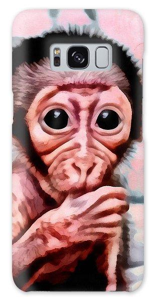 Baby Monkey Realistic Galaxy Case