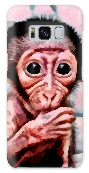Baby Monkey Realistic Galaxy Case