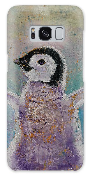 Baby Penguin Galaxy Case by Michael Creese