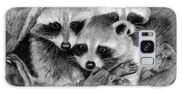 Hyper-realistic Galaxy Case - Baby Raccoons by James Schultz