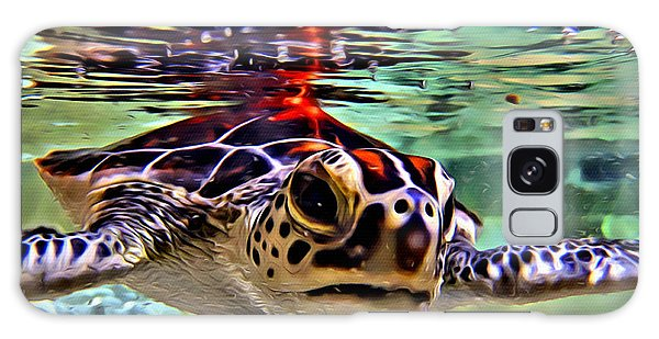 Reef Diving Galaxy Case - Baby Turtle by Anthony C Chen