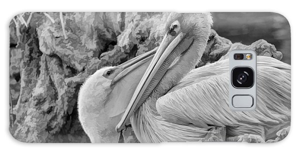 Baby White Pelican Talks To Mother White Pelican Galaxy Case