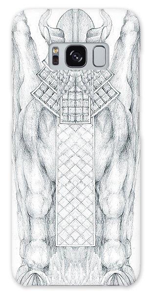 Babylonian Sphinx Lamassu Galaxy Case by Curtiss Shaffer