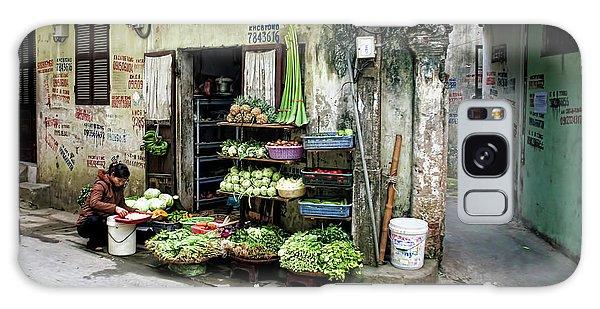 Back Street Veggies Store I Galaxy Case by Chuck Kuhn