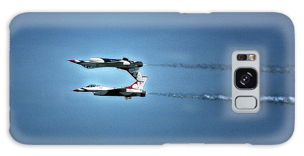 Galaxy Case featuring the photograph Back To Back Thunderbirds Over The Beach by Bill Swartwout Fine Art Photography