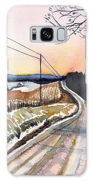Backlit Roads Galaxy Case by Katherine Miller