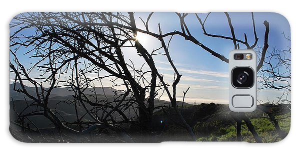 Galaxy Case featuring the photograph Backlit Trees Overlooking Hillside by Matt Harang