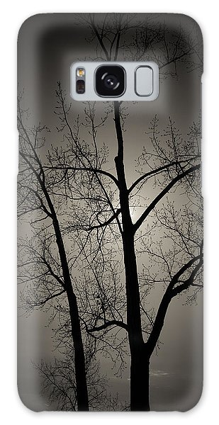 Backlit Trees Galaxy Case
