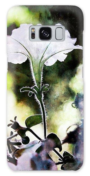 Backlit White Flower Galaxy Case