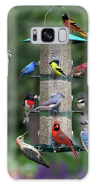 Backyard Bird Feeder Galaxy Case