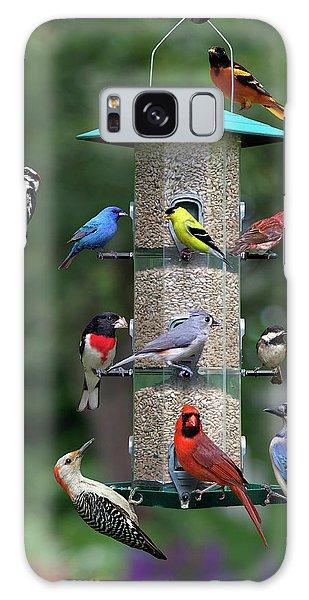 Backyard Bird Feeder Galaxy Case
