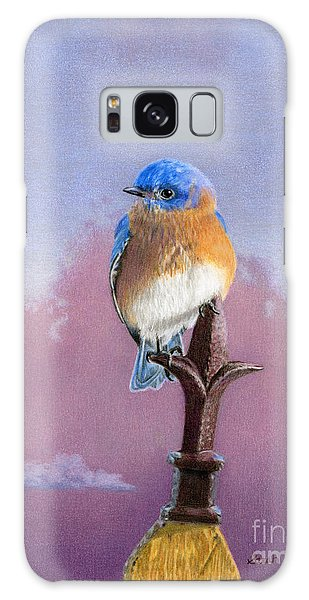 Bluebird Galaxy Case - Backyard Bluebird by Sarah Batalka