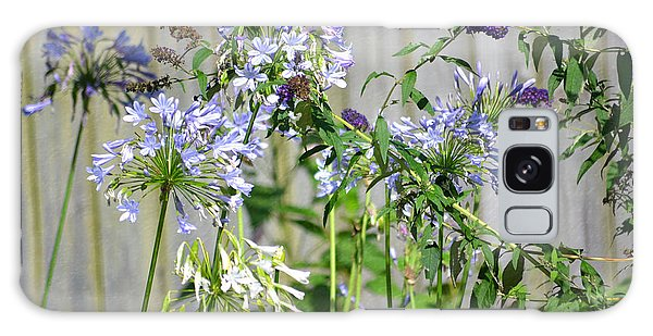 Backyard Flowers Galaxy Case