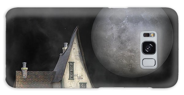 Cottage Galaxy Case - Backyard Moon Super Realistic  by Betsy Knapp