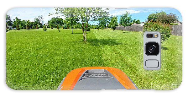 Galaxy Case featuring the photograph Backyard Mowing by Ricky L Jones