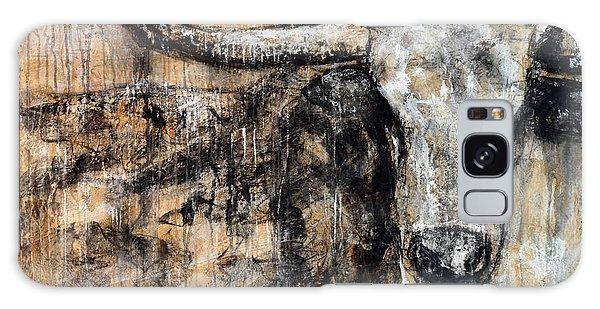 Bad Attitude Texas Longhorn Contemporary Painting Galaxy Case