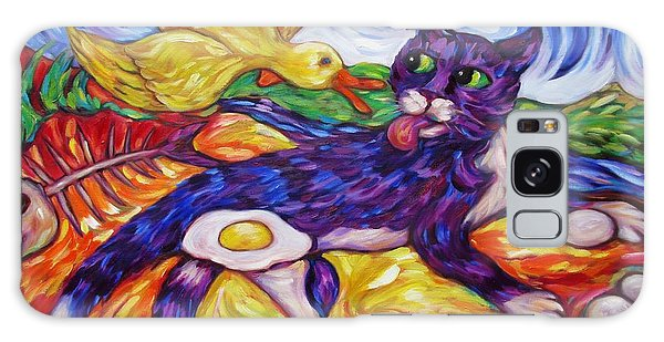 Bad Kitty Gets Caught Again Galaxy Case by Dianne  Connolly