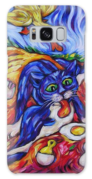 Bad Kitty Gets Caught Galaxy Case by Dianne  Connolly