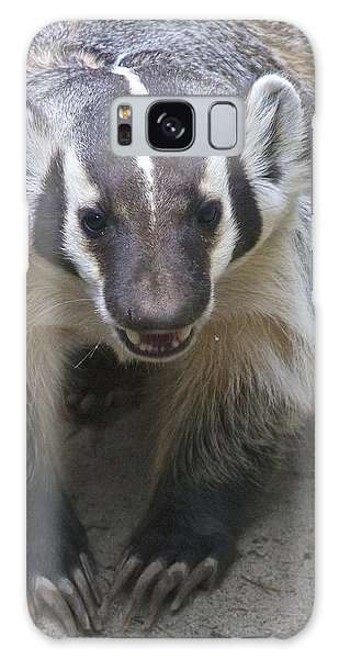 Badgered Badger Galaxy Case by Sean Griffin