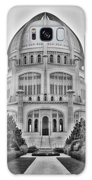 Baha'i Temple - Wilmette - Illinois - Vertical Black And White Galaxy Case