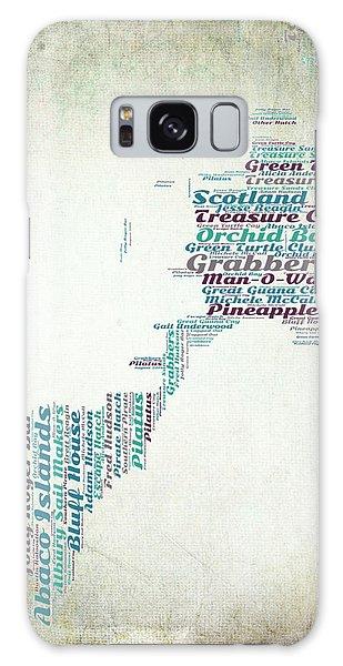 Bahamas Galaxy Case - Bahamas Map by Brandi Fitzgerald